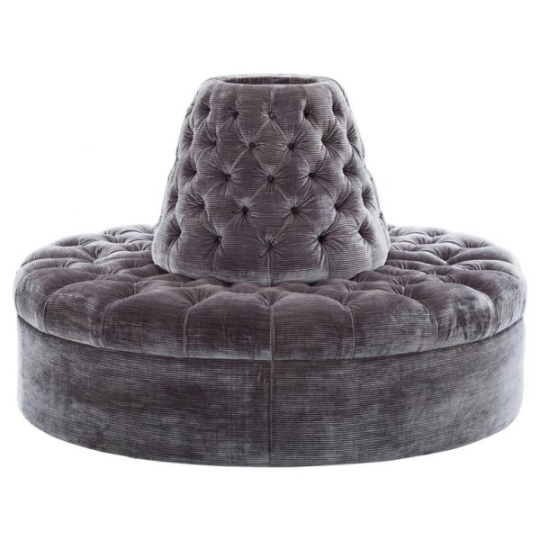 Tufted Round Banquette 01